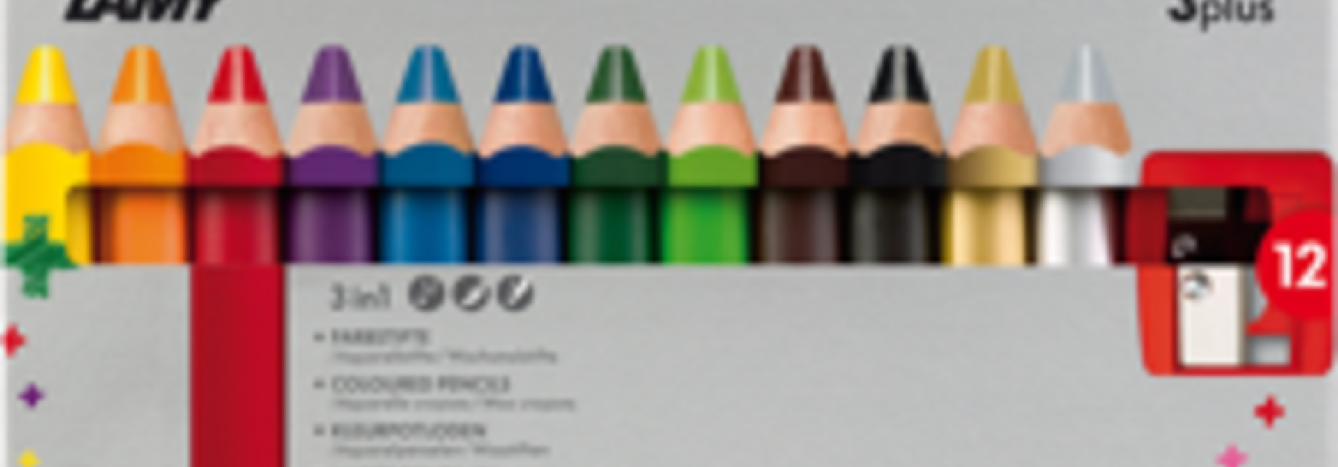 Color pencils 3plus - 12 pcs