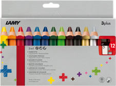 Color pencils 3plus - 12 pcs-1
