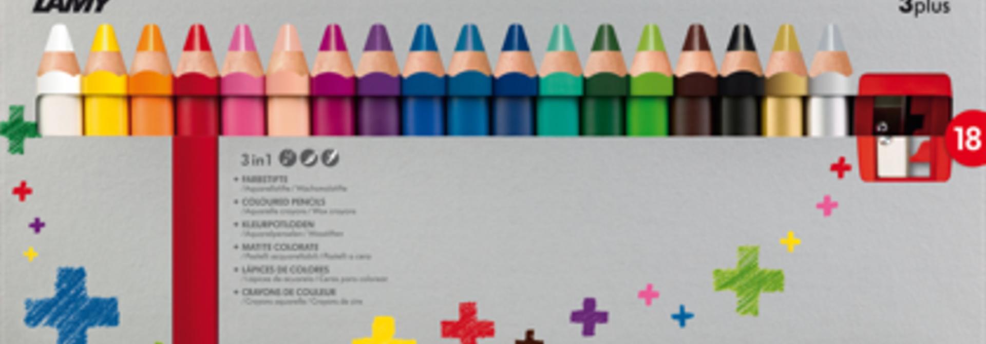 Kleurpotloden 3plus - 18 stuks