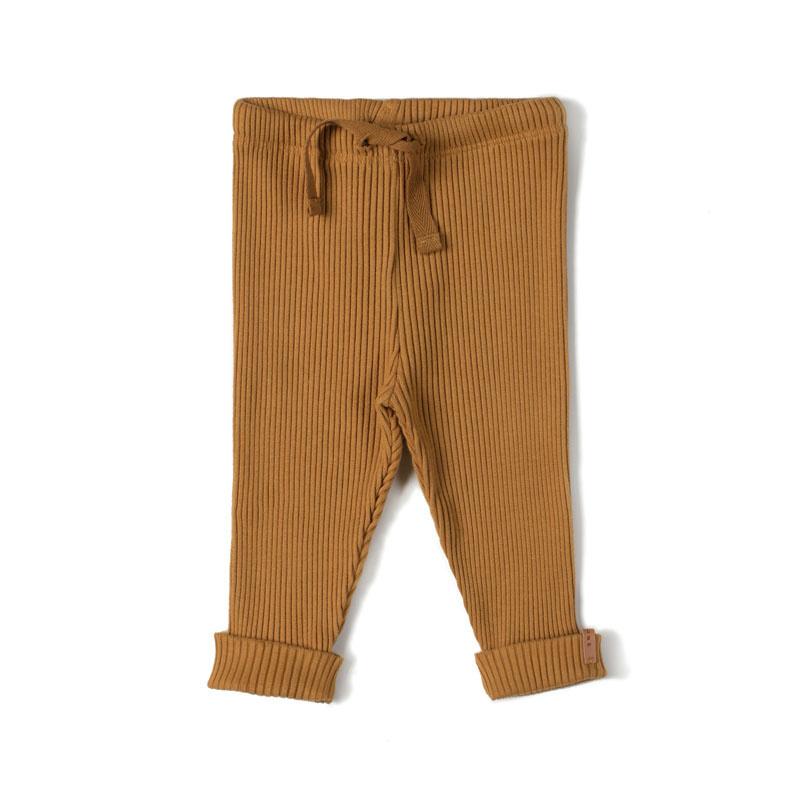 Rib legging - caramel-1