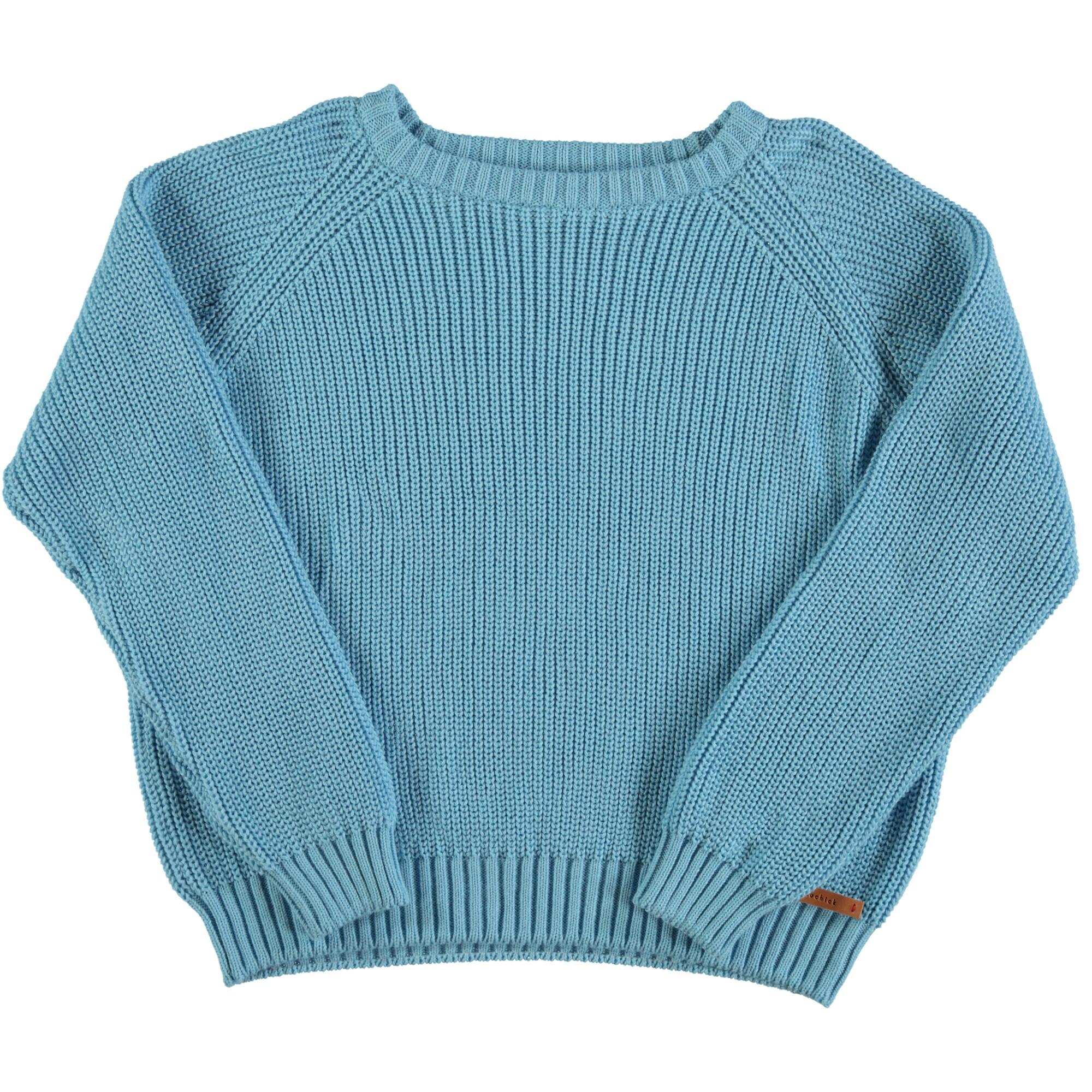 "knitted sweater | blue w/ garnet ""Leone d'or"" print-1"