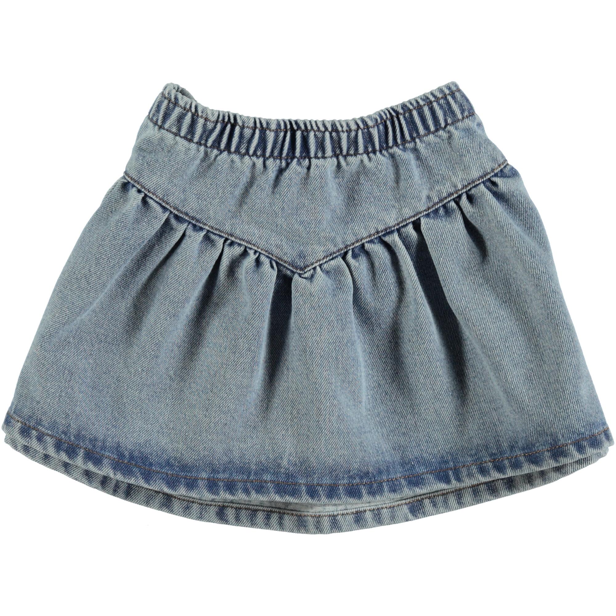 mini skirt   light blue washed denim-1