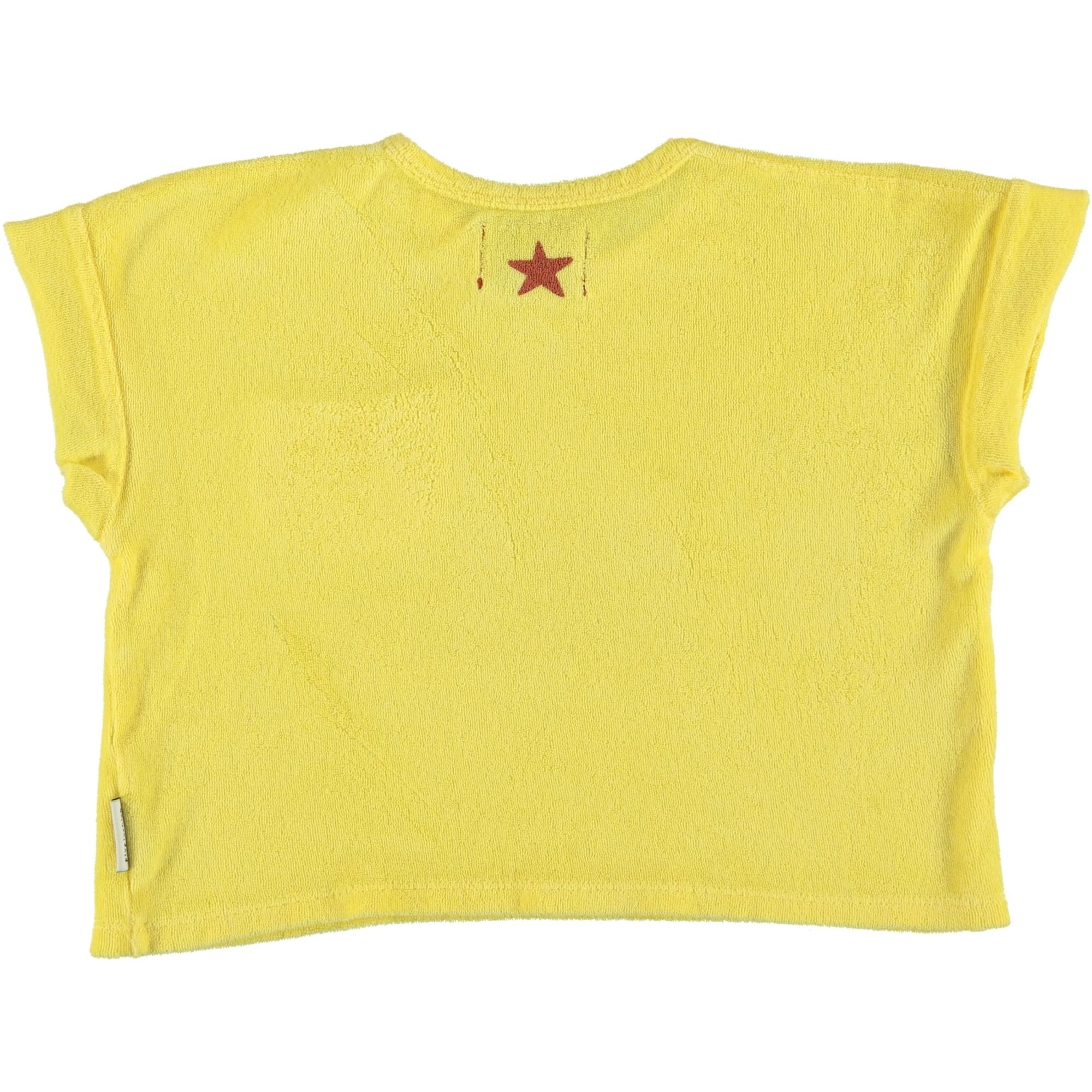 "t-shirt | yellow w/ ""festival"" garnet & black print-2"