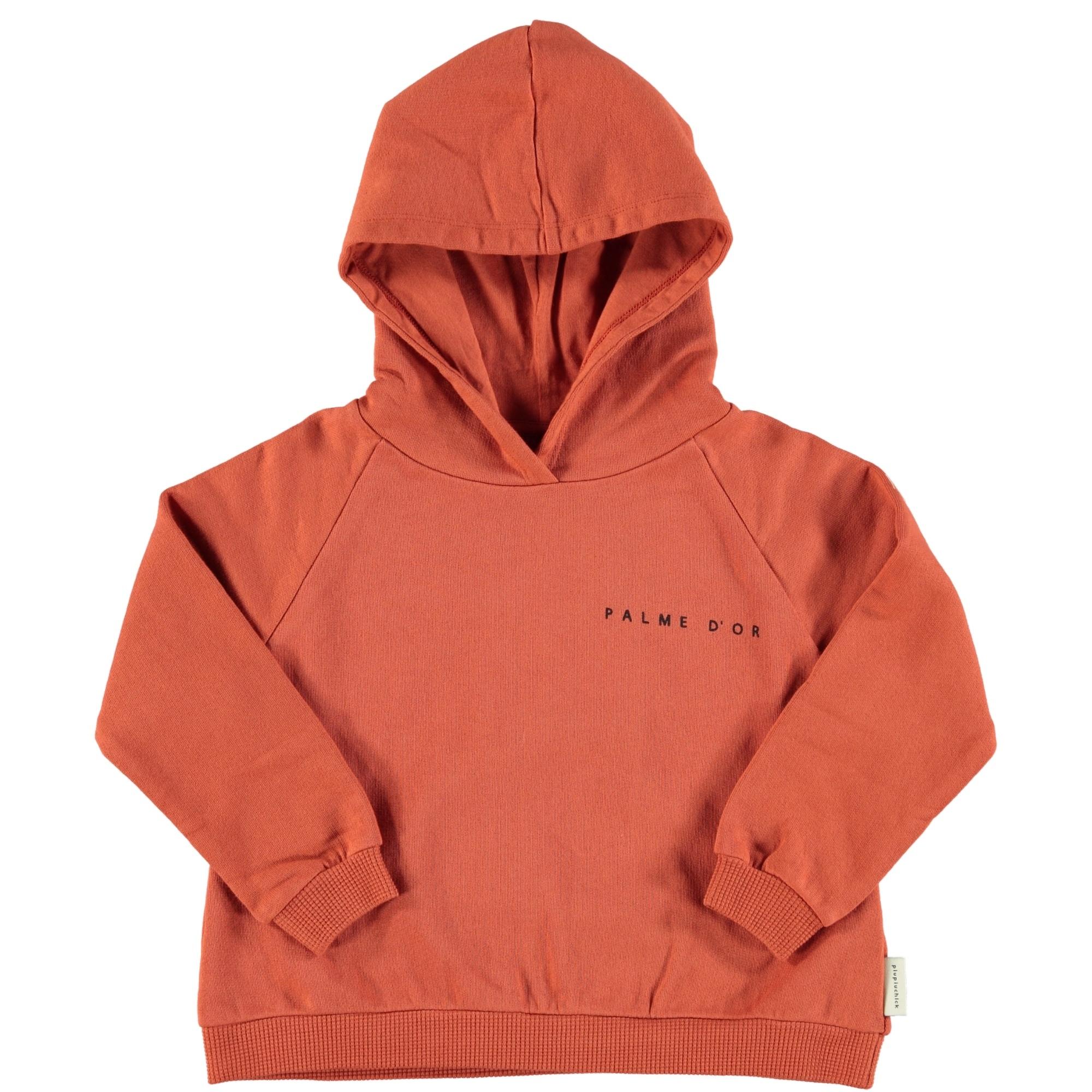 hooded sweatshirt | garnet w/ print-1