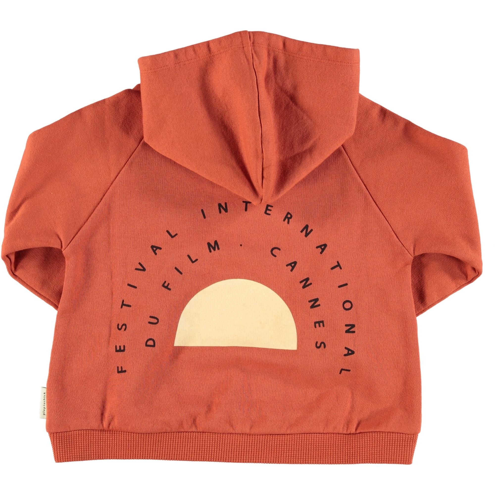 hooded sweatshirt | garnet w/ print-2