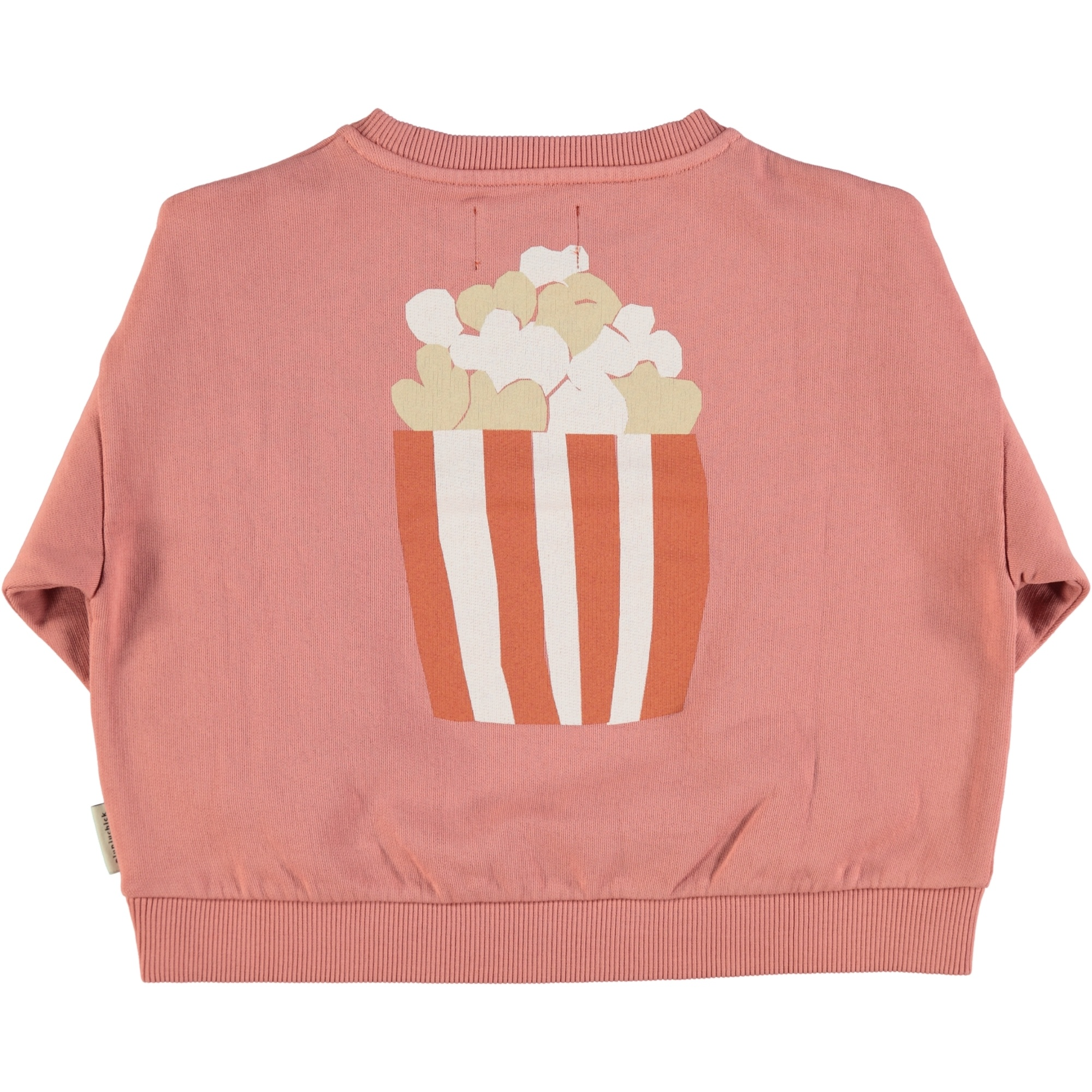 "unisex sweatshirt | pink w/ ""popcorn"" print-2"