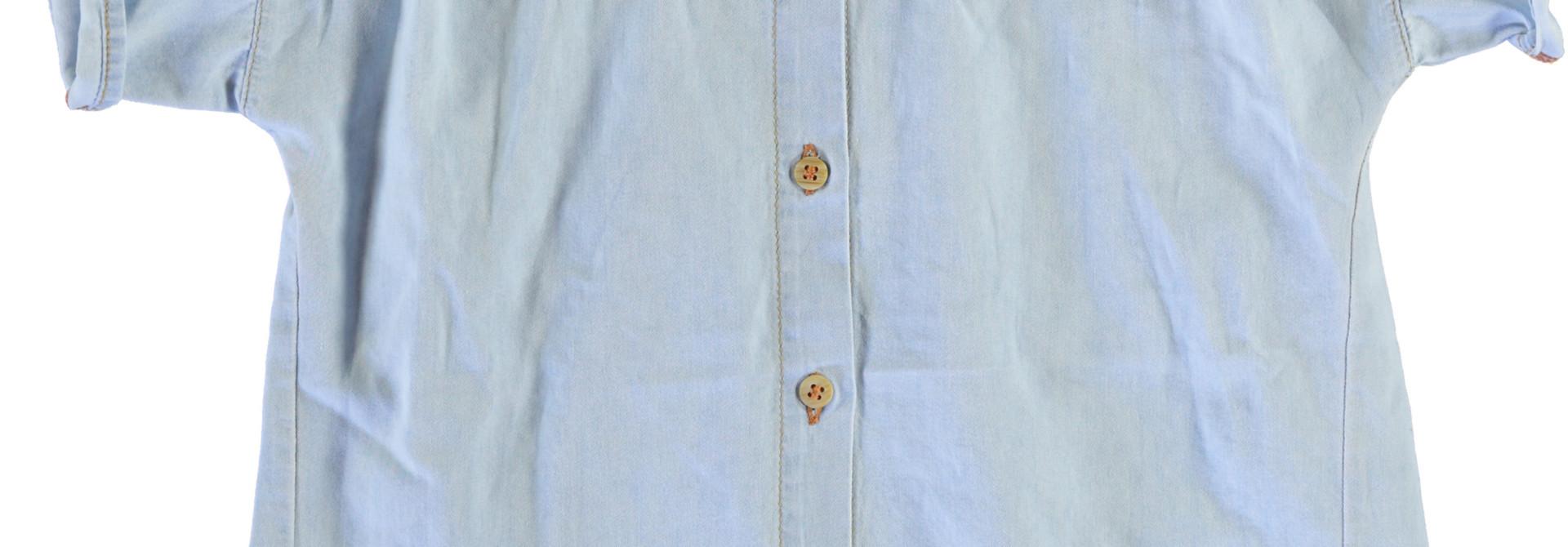 peter pan shirt | light blue washed denim