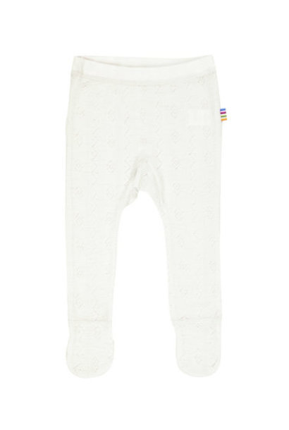 Baby pants with feet - wool-silk - Natural