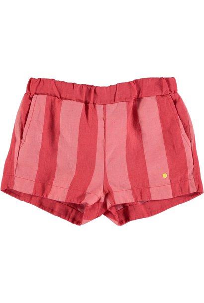 Short linen wide stripe