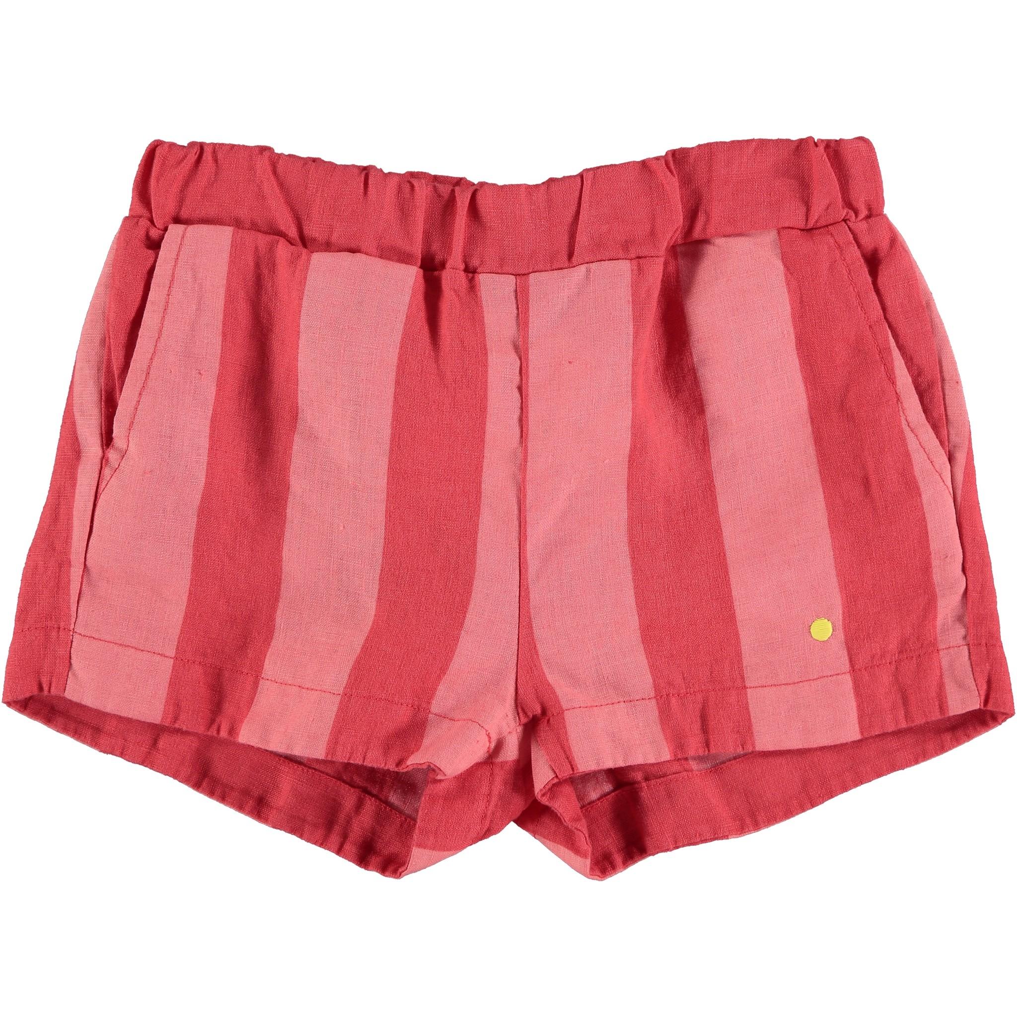 Short linen wide stripe-1