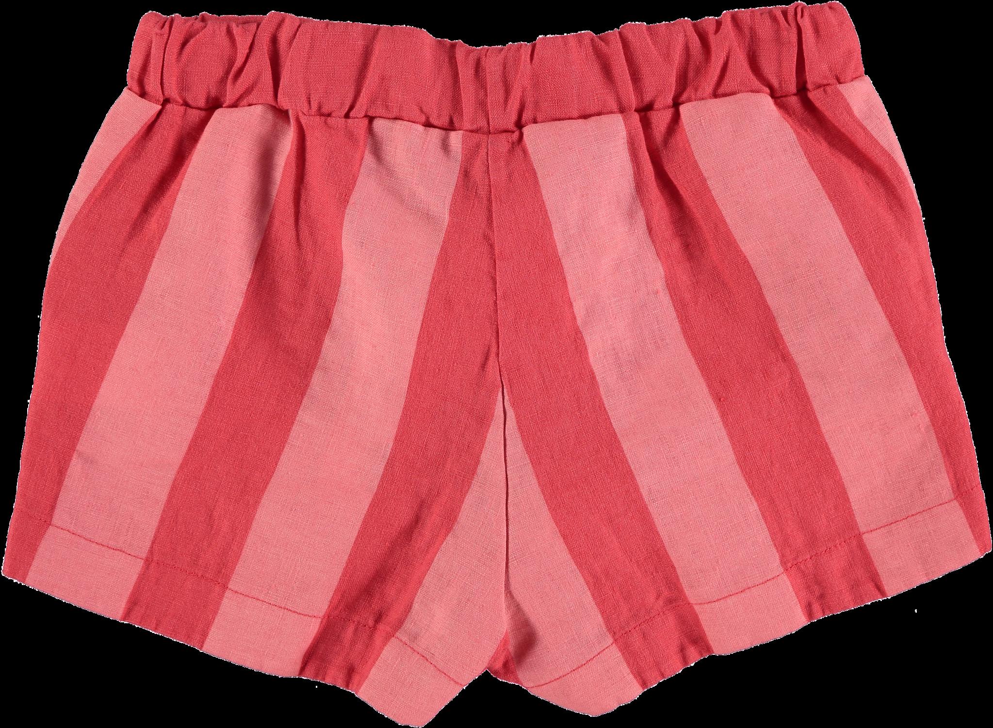Short linen wide stripe-2