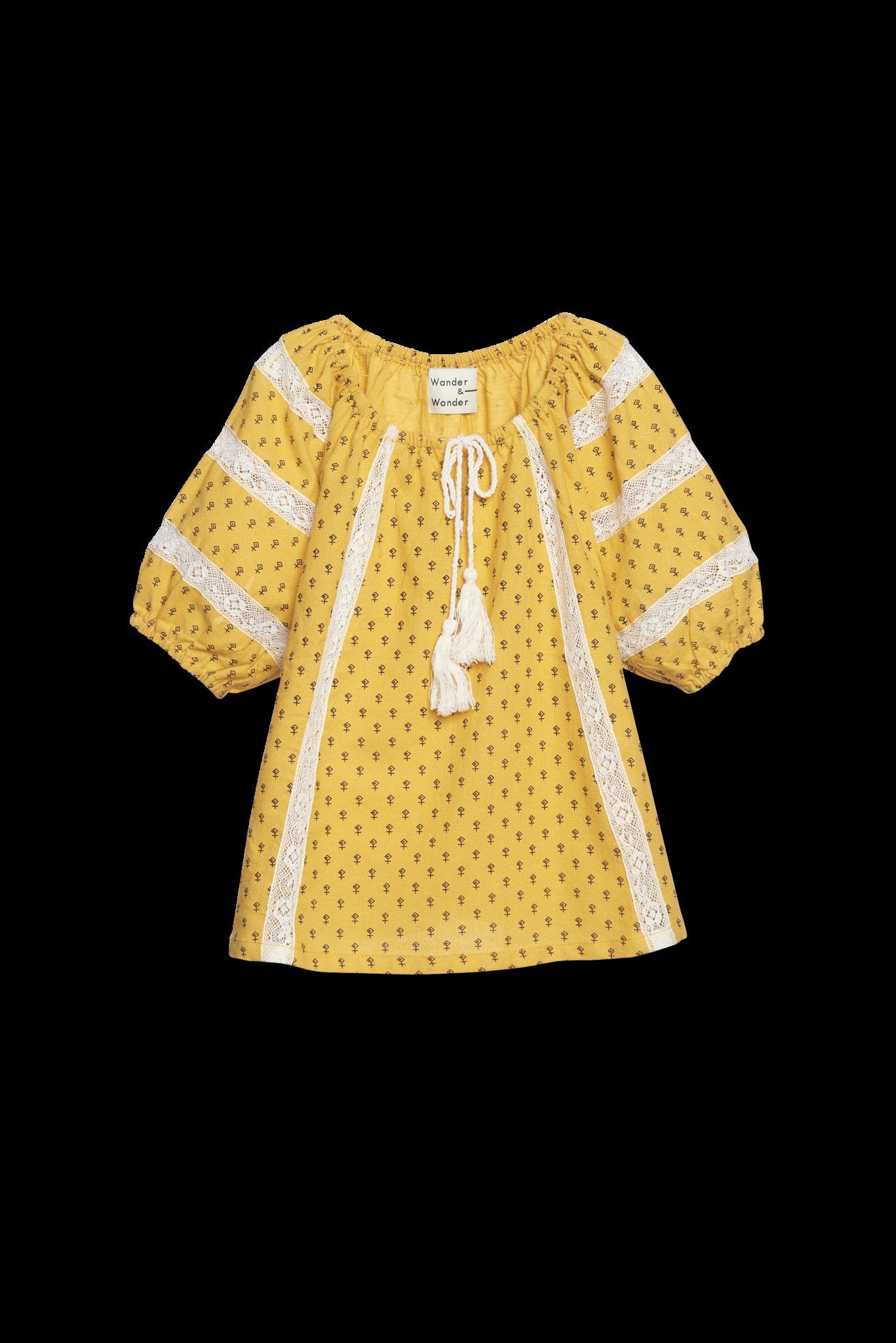 Prairie Top - yellow ditsy-1