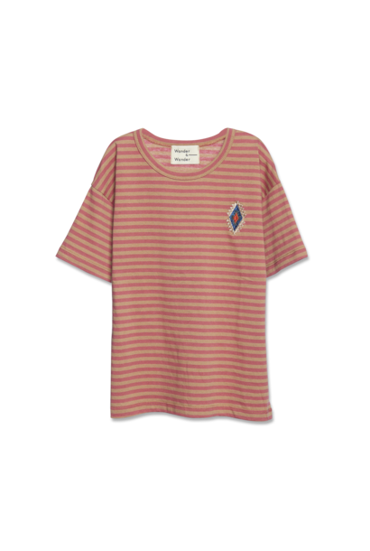 Aztec Stripe Tee - clay stripe