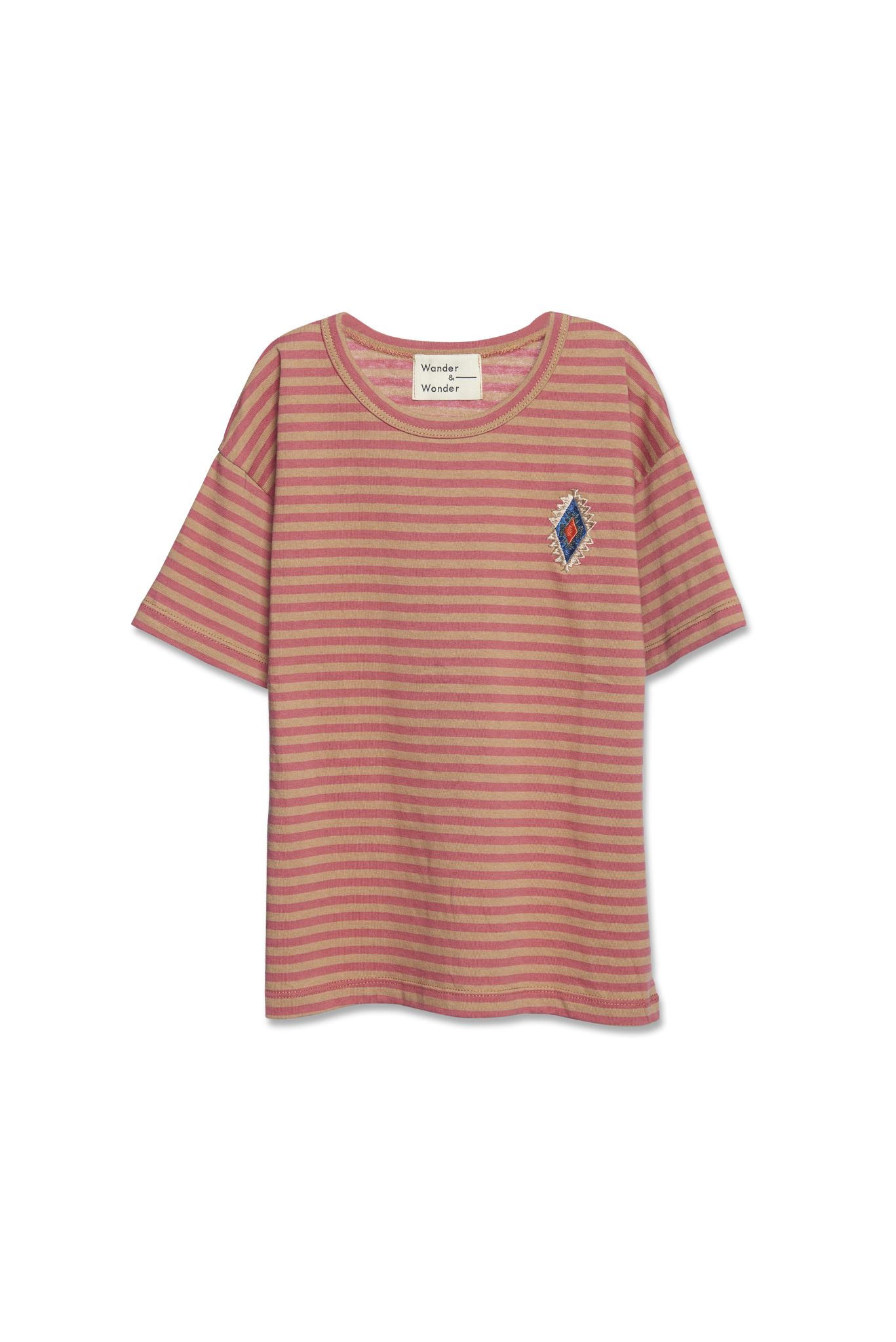 Aztec Stripe Tee - clay stripe-1