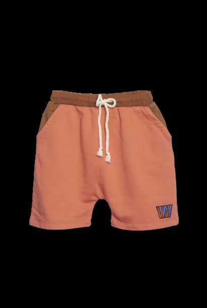 Color Block Shorts - copper