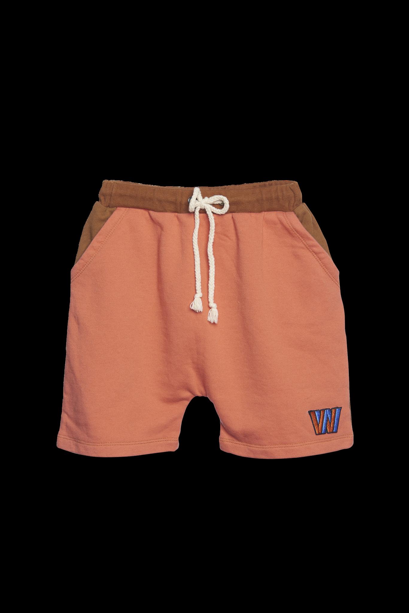 Color Block Shorts - copper-1