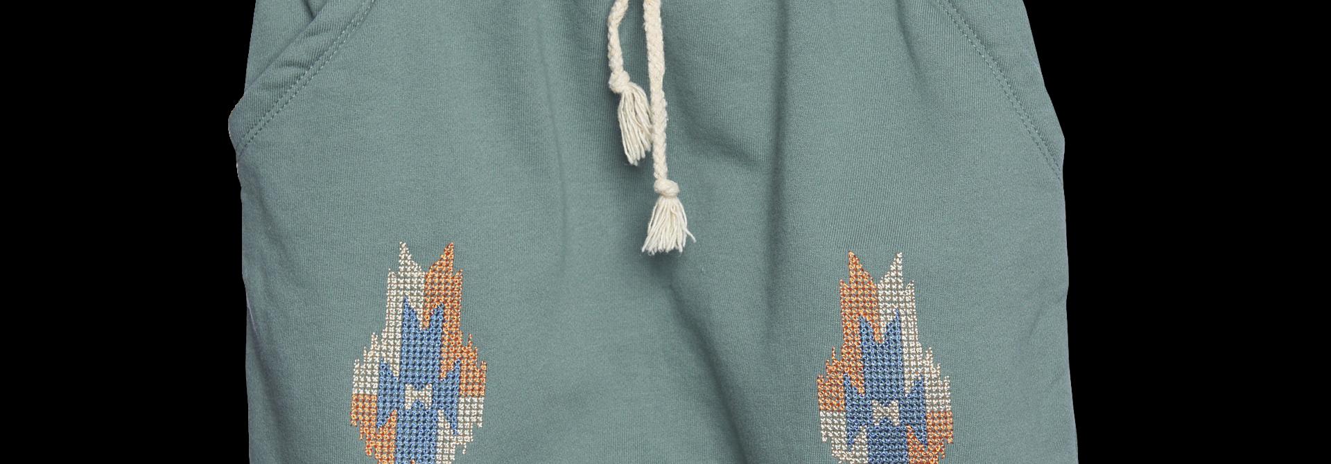 Aztec Shorts - basil