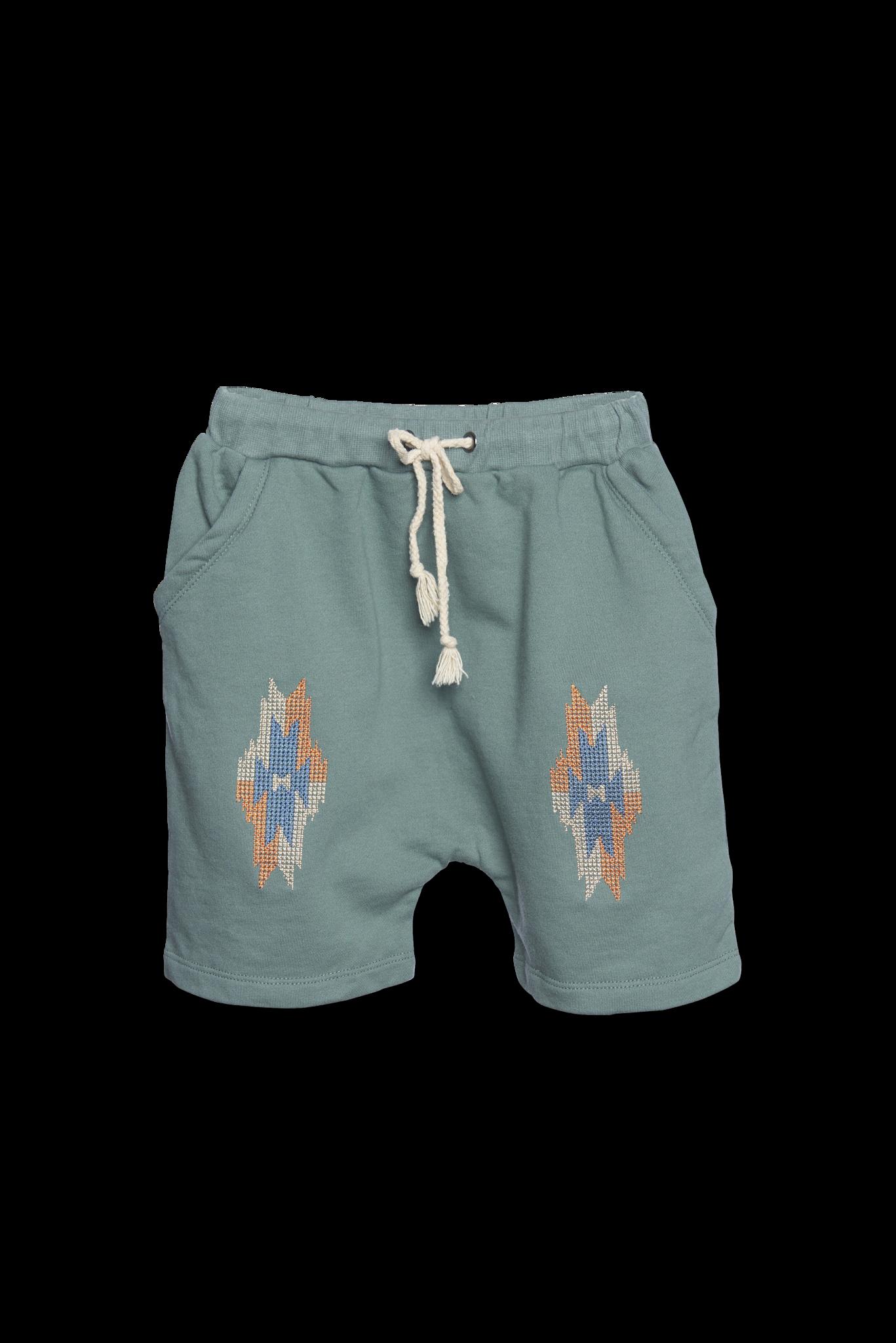 Aztec Shorts - basil-1