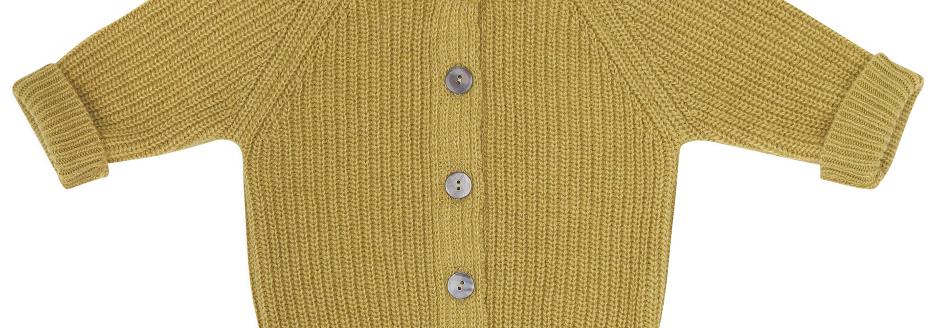Cashmere-blend knit cardigan - avocado