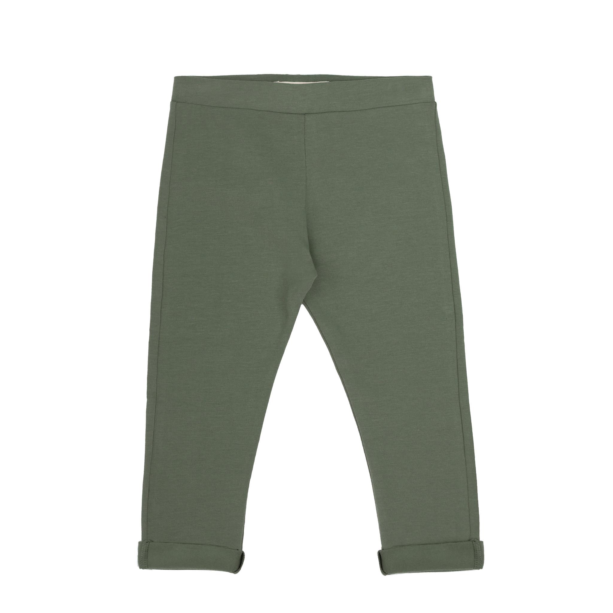 Basic jersey pants - Sage-1