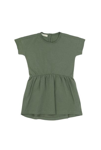 Oversized jersey dress s/s - Sage