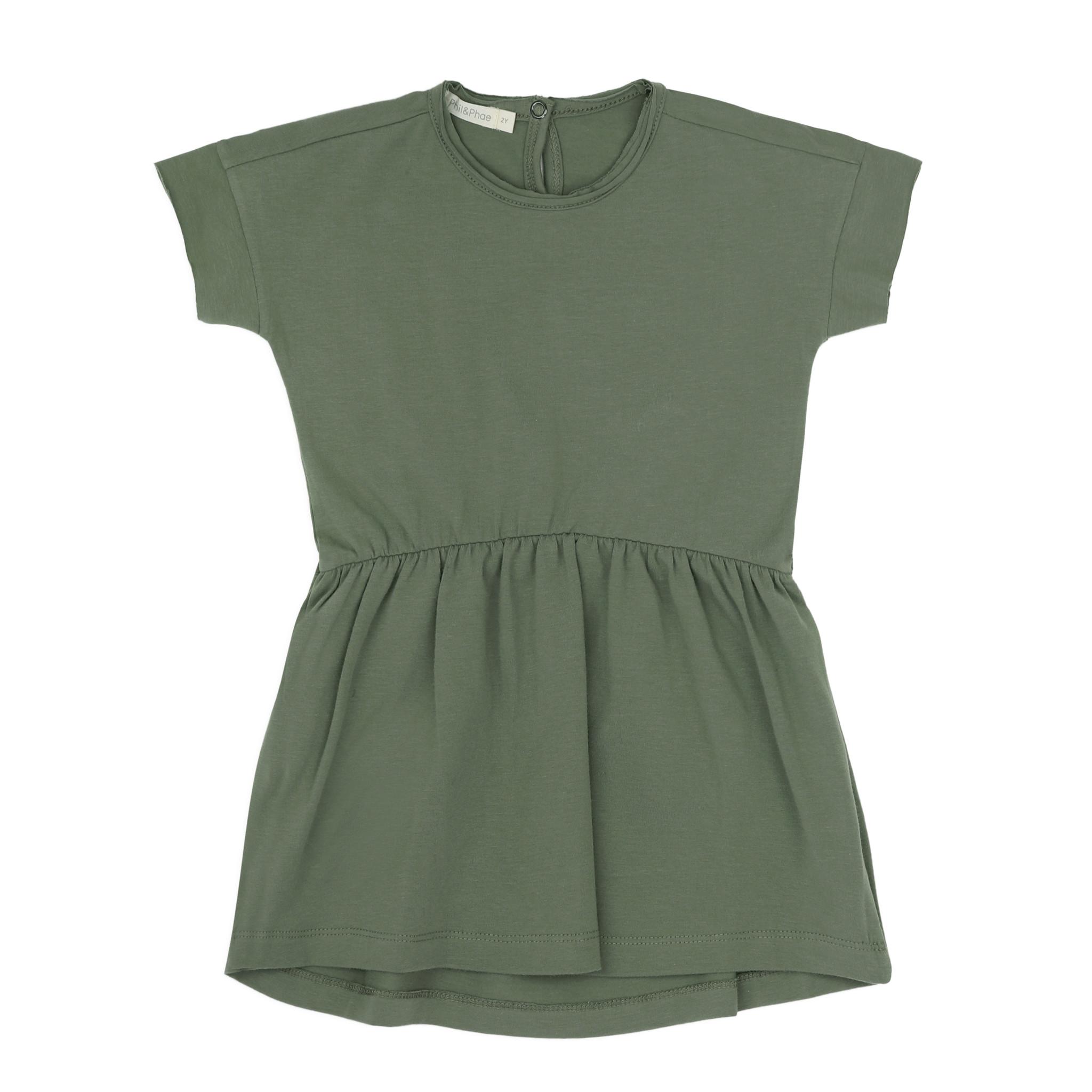 Oversized jersey dress s/s - Sage-1