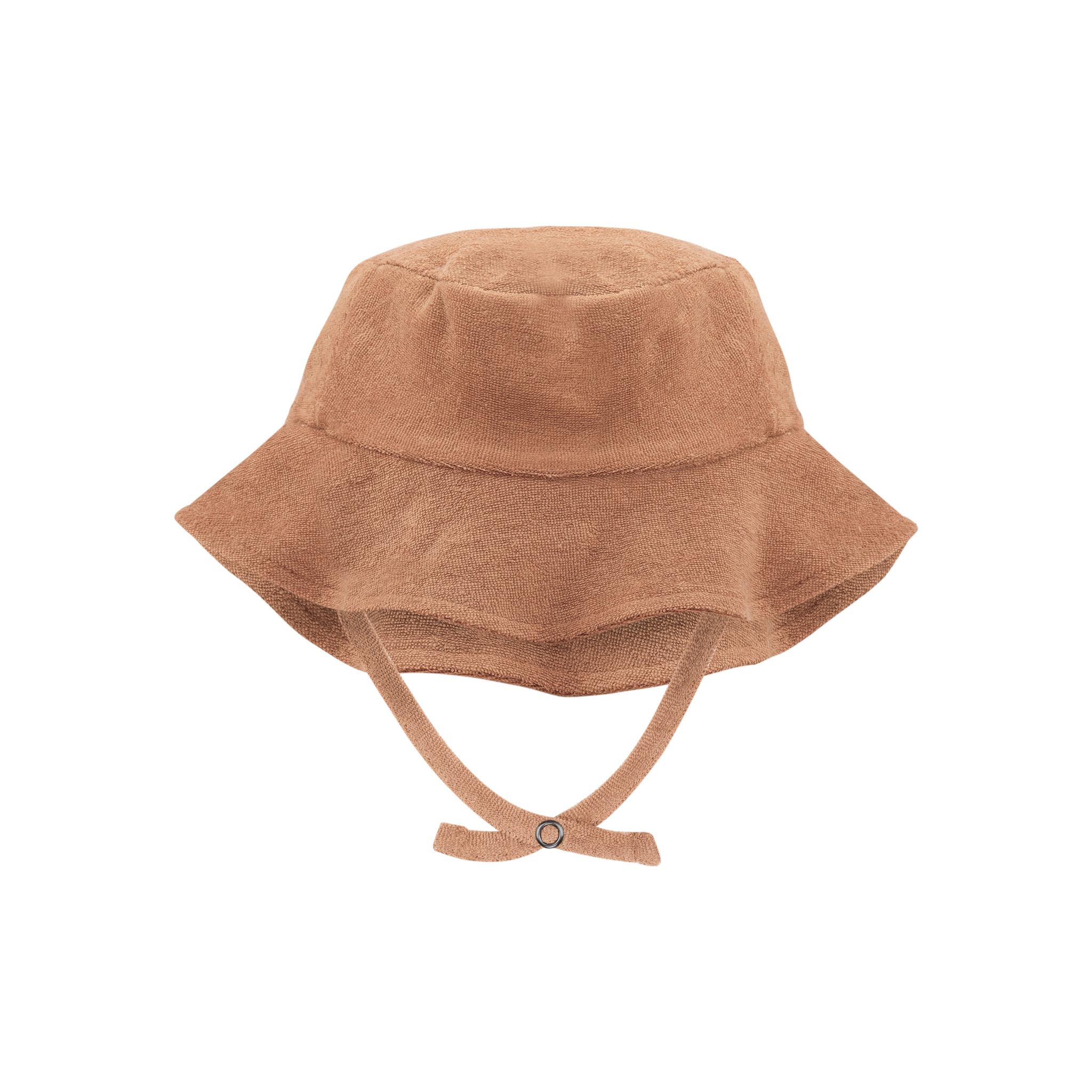 Frotté sun hat - warm biscuit-1
