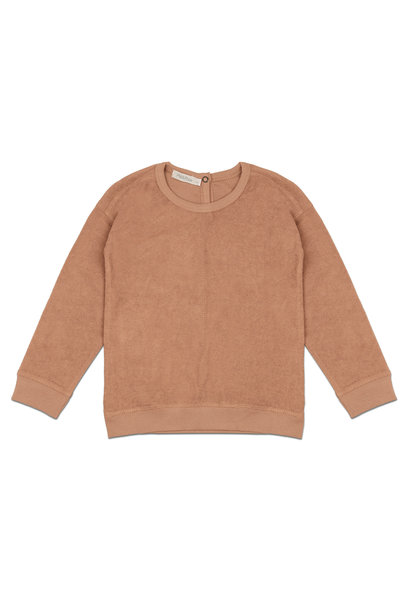 Frotté sweater - warm biscuit