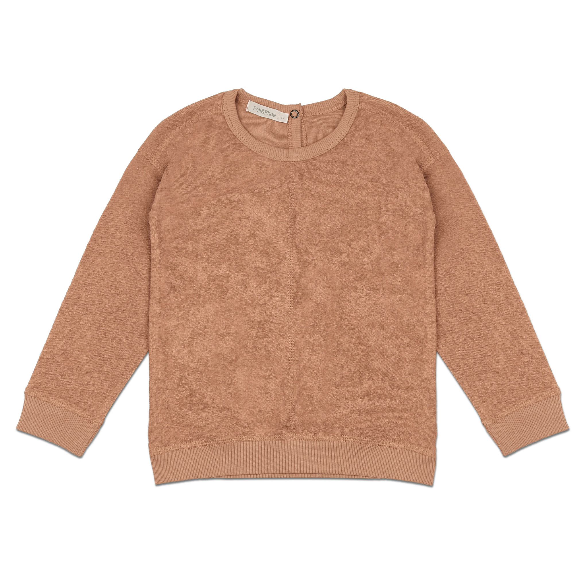 Frotté sweater - warm biscuit-1