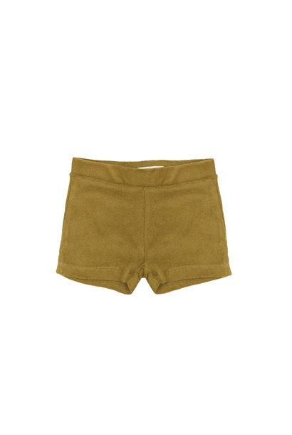 Frotté shorts - pear