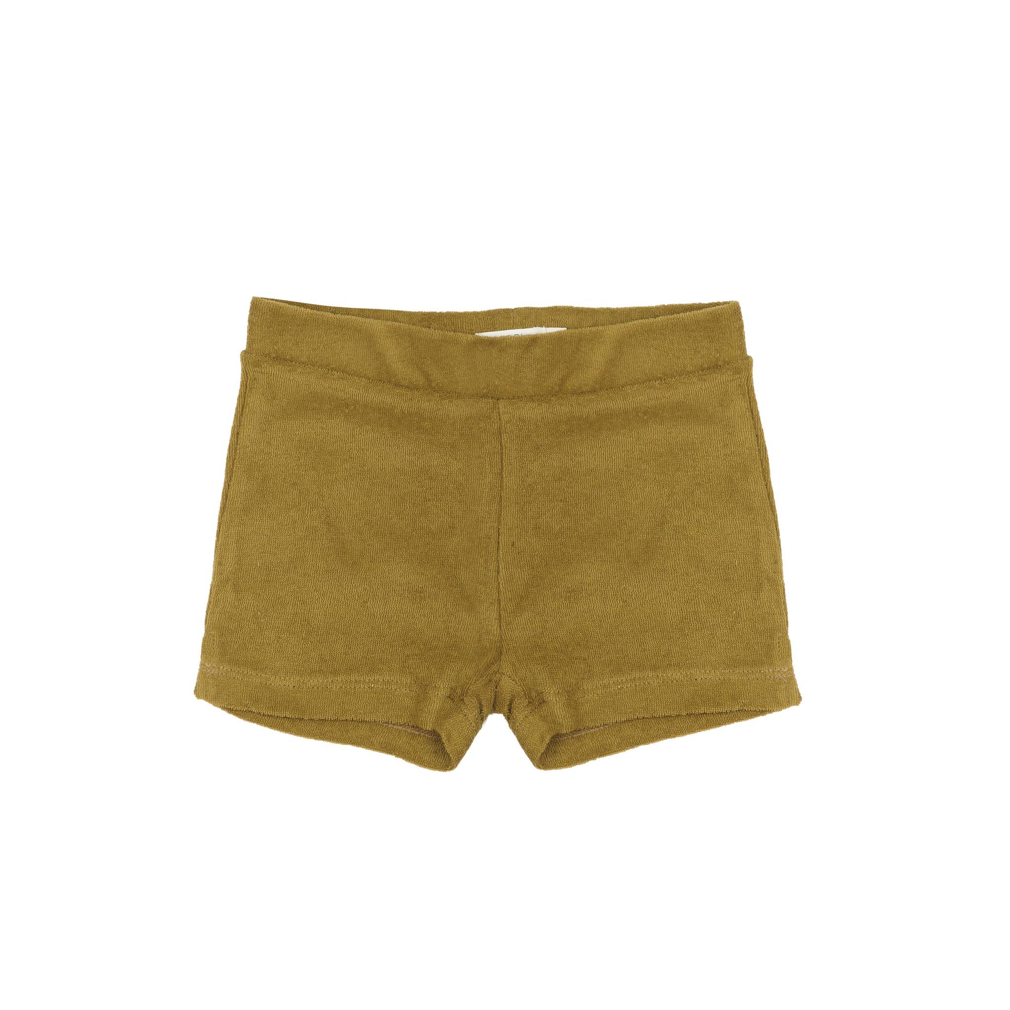 Frotté shorts - pear-1