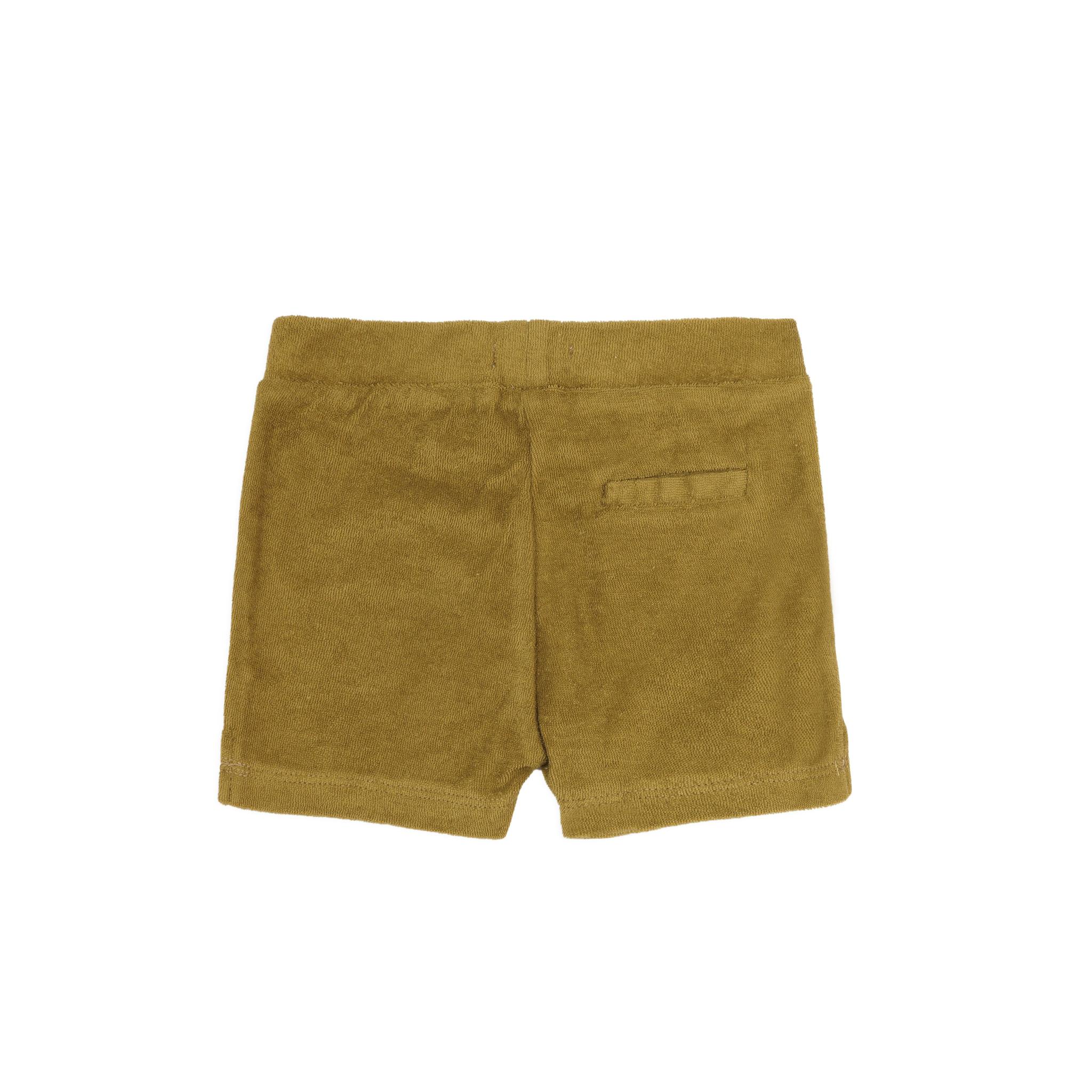 Frotté shorts - pear-2