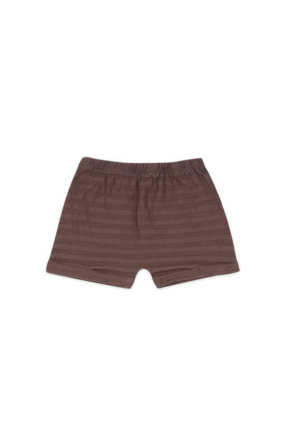 Summer shorts tonal stripe - heather