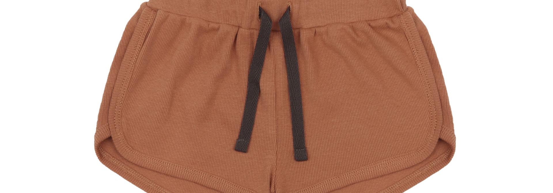 Rib shorts - terra