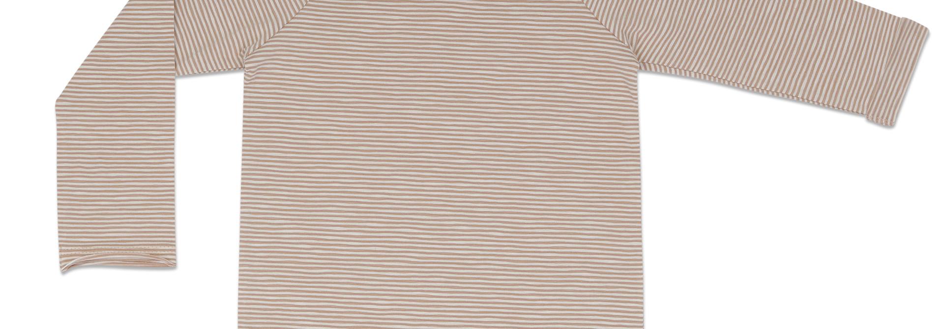 Raglan tee stripes l/s - dusty nude stripe