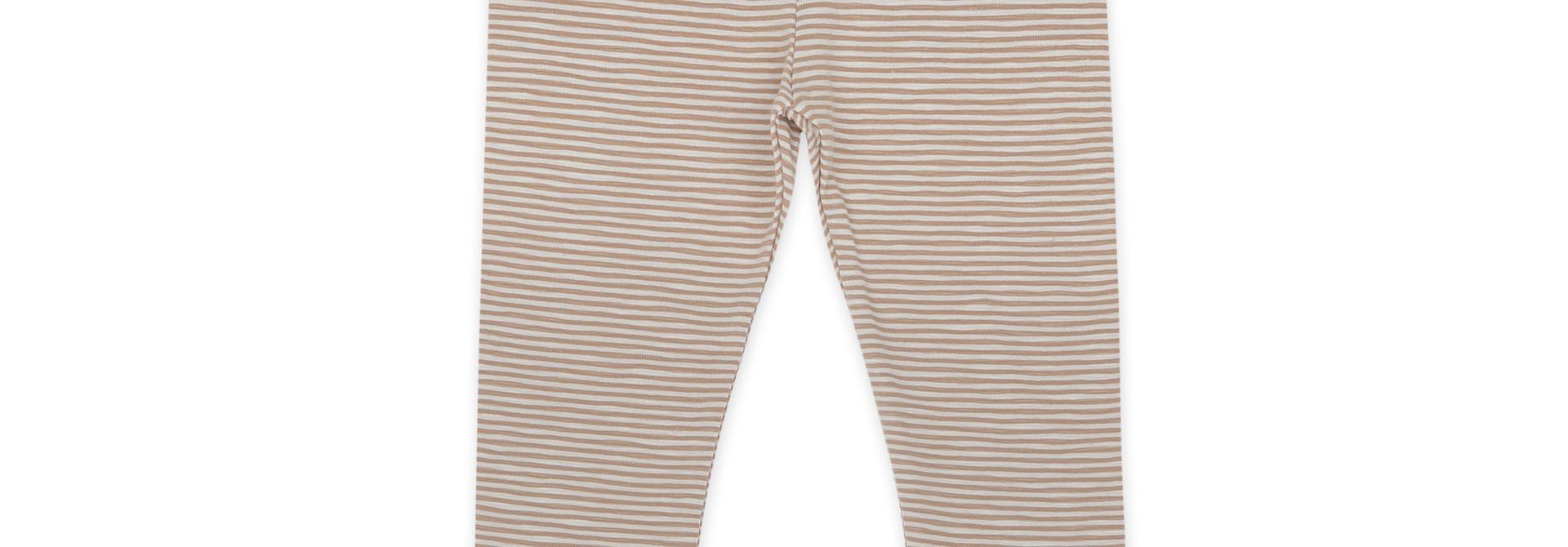 Leggings stripes - dusty nude stripe