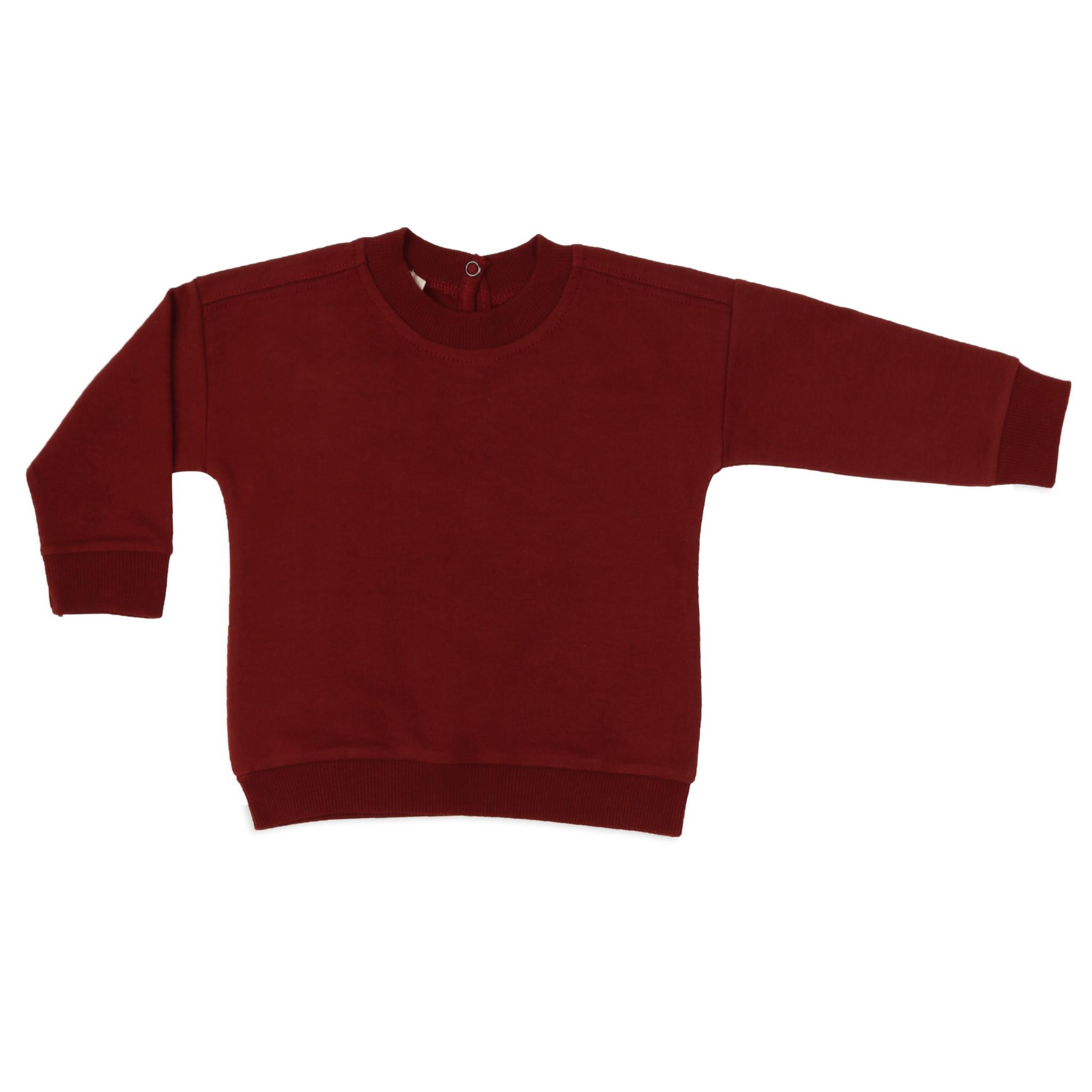 Baby summer sweater - deepest brick-1