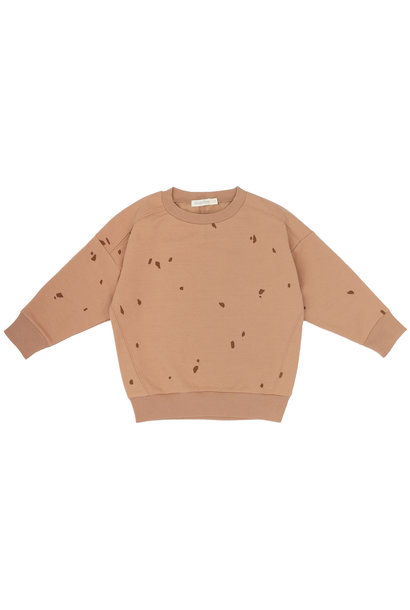 Oversized summer sweater stones - warm biscuit