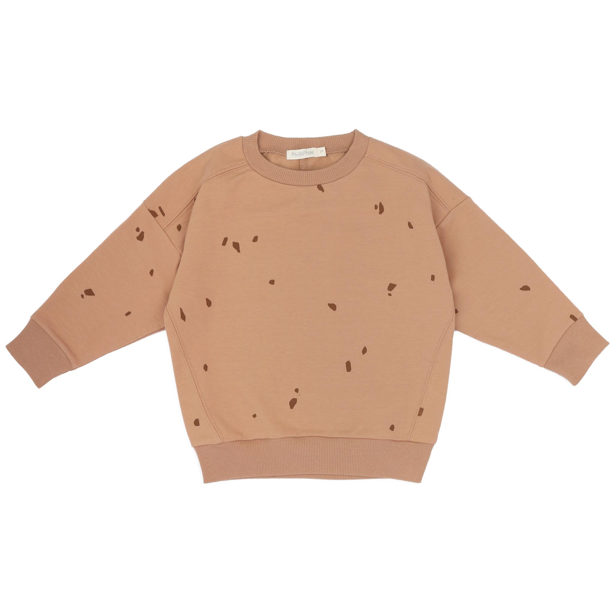 Oversized summer sweater stones - warm biscuit-1