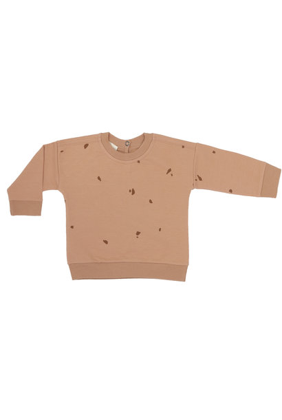 Baby summer sweater stones - warm biscuit