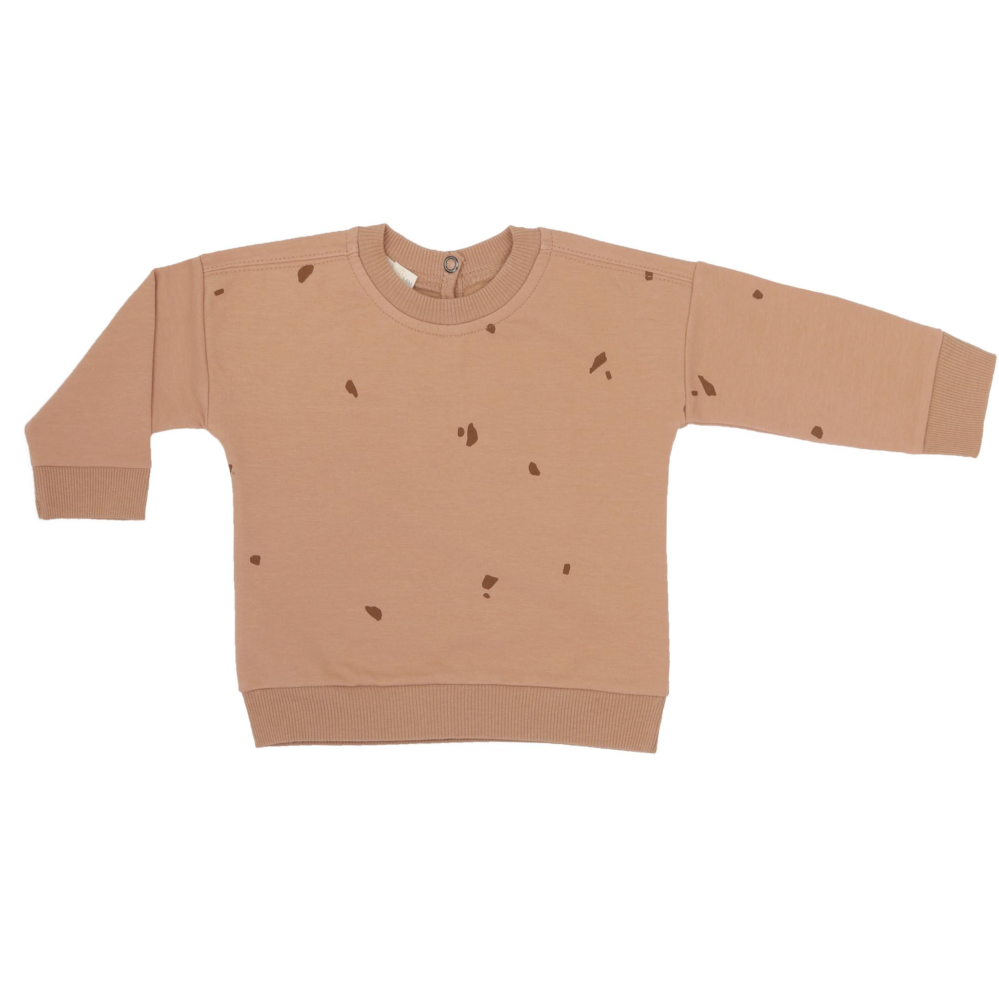 Baby summer sweater stones - warm biscuit-1