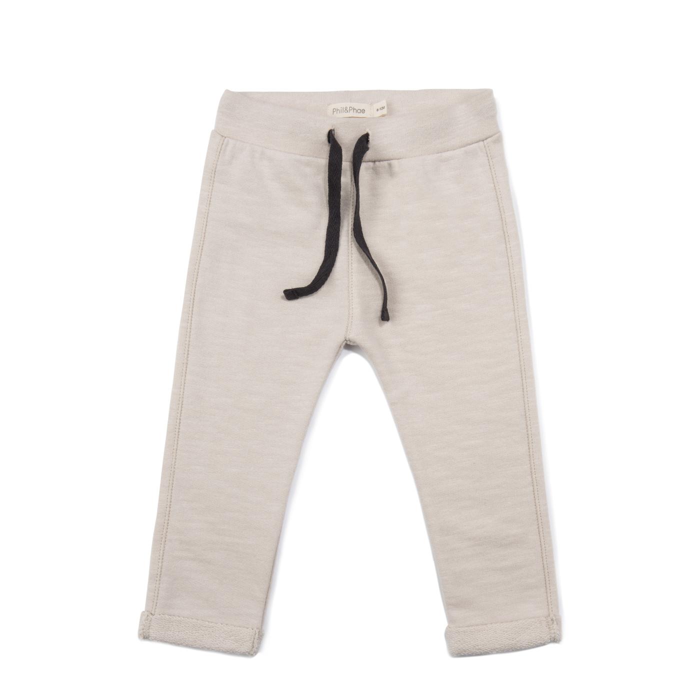 Baby sweat pants slub - Oatmeal-1