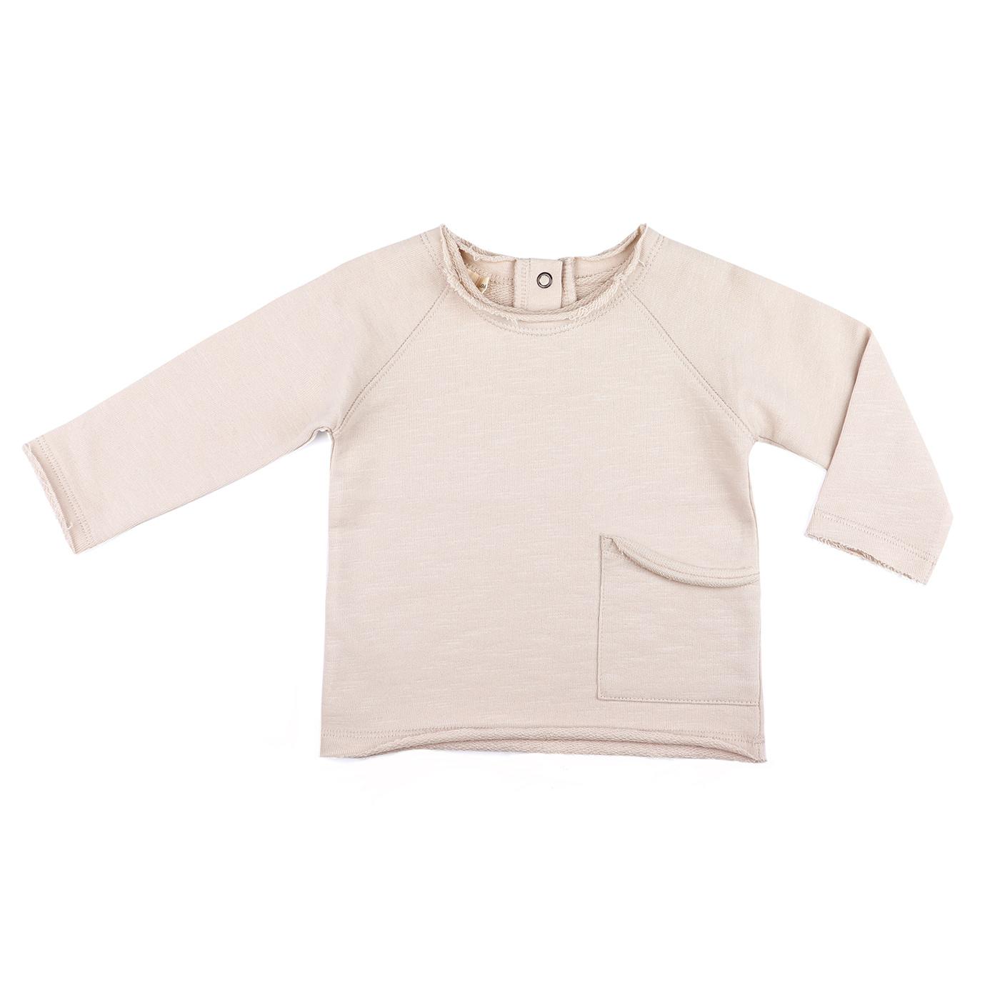 Raw-edged baby sweater - Oatmeal-1