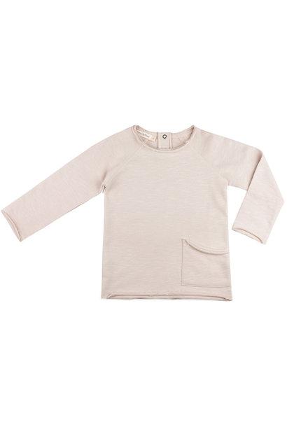 Raw-edged sweater - Oatmeal