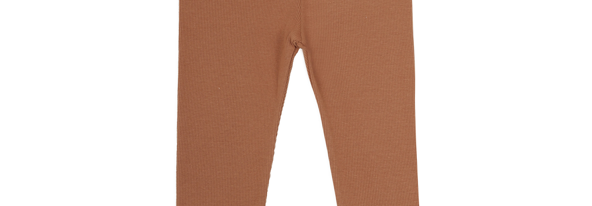 Rib leggings - terra