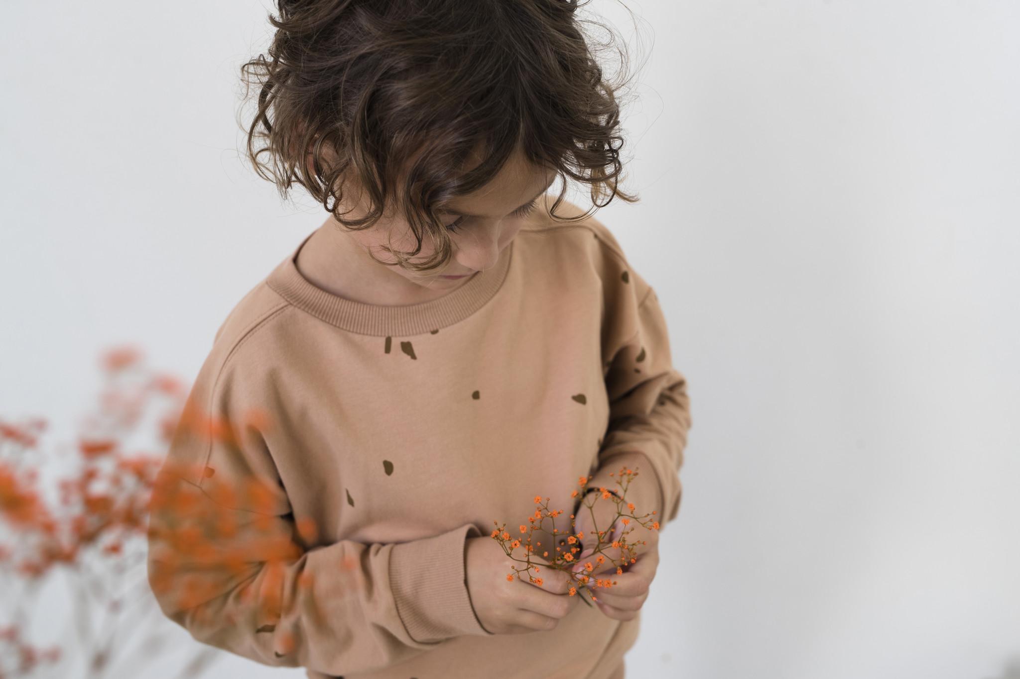 Oversized summer sweater stones - warm biscuit-3