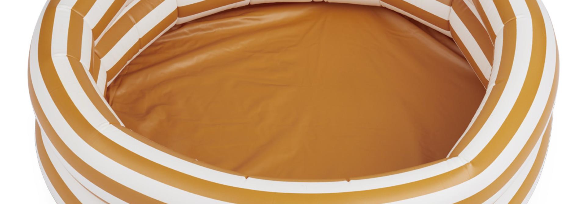 Leonore pool - Stripe: Mustard/Creme de la creme