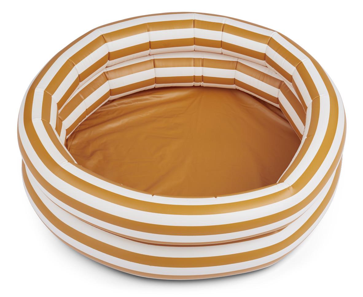 Leonore pool - Stripe: Mustard/Creme de la creme-1