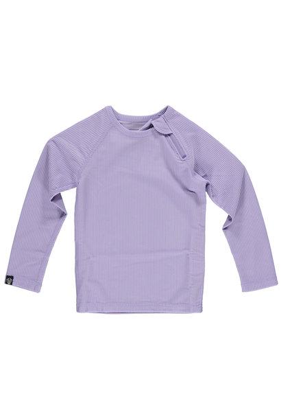 Lavender Ribbed LS Tee