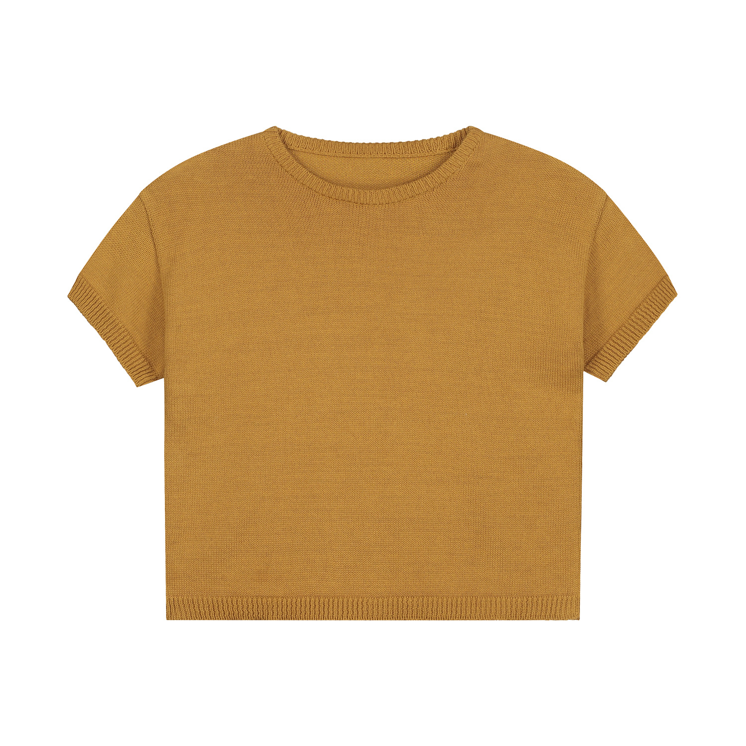 Summer knitted t-shirt sandstone-1